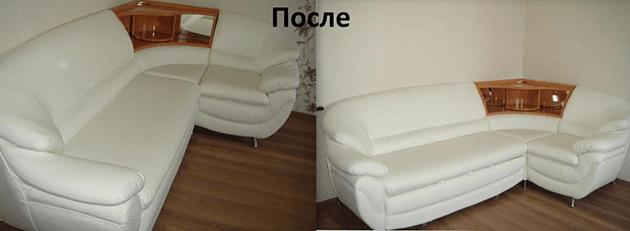 Перетяжка дивана после реставрации